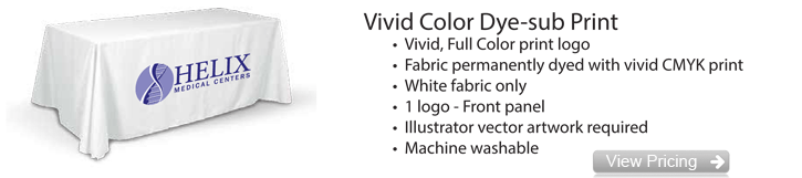 Vivid Color Dye Sub Table Cover