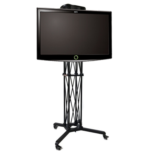 Expo Tv Stands : Trade show mobile tv stand up to quot large flat panel cart