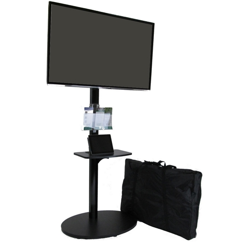 Portable Tv Exhibition Stand : Trade show portable tv stand tall monitor