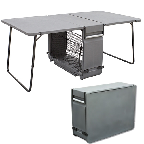 Portable Exhibition Table : Case to table portable folding trade show