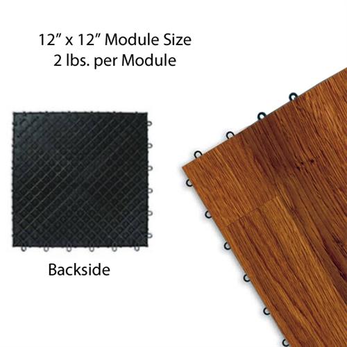 Centiva wood grain interlocking snap lock tile trade show for Wood floor snap lock