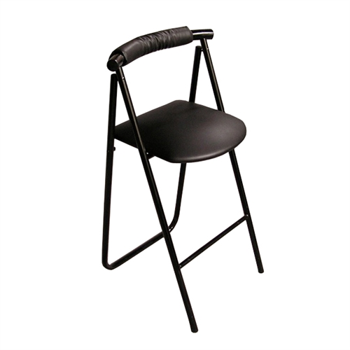 pack stuff trade show stool portable folding curve back chair. Black Bedroom Furniture Sets. Home Design Ideas