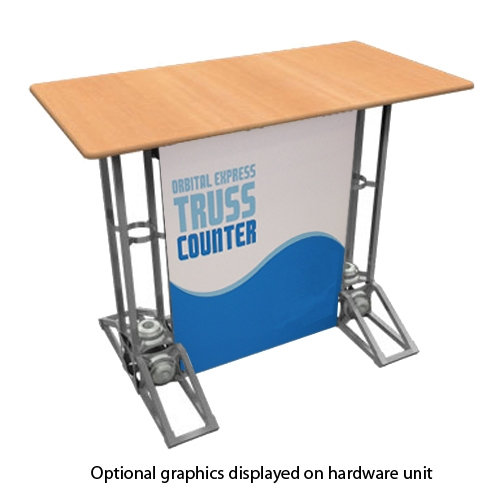 Orbital express truss counter rectangle top for Truss package cost