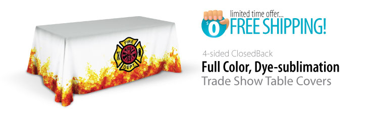 dye sublimation trade show table cover