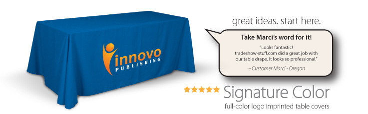 Trade Show Table Covers with logo