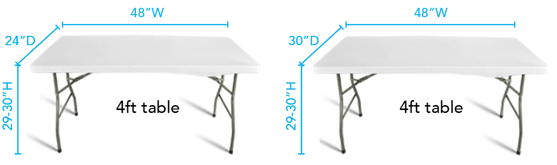 Trade Show Table Sizes