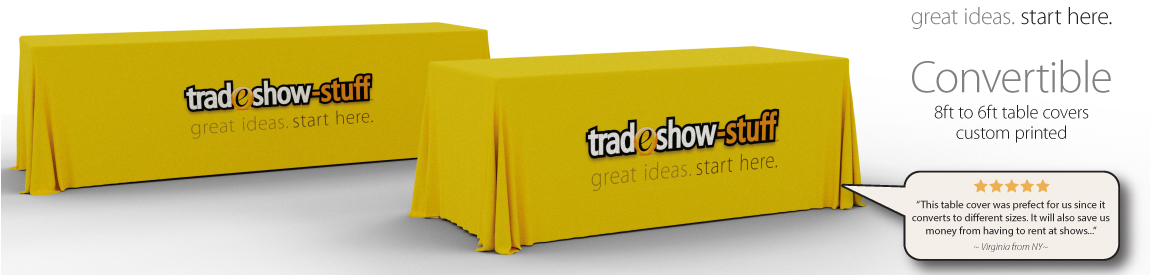 Convertible Trade Show Table Covers