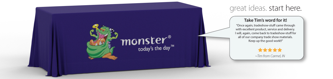 Trade Show Table Drapes with logo