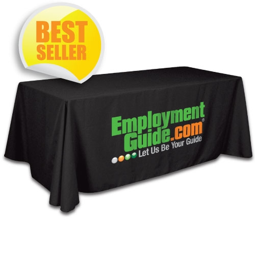 Table throws for trade show custom imprinted with your logo for Table th row