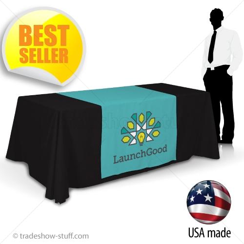 Table Runners Target Trade Show Logo Table Runners   tradeshow-stuff.com